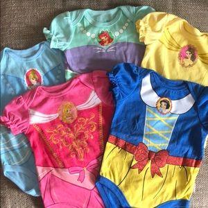 5 piece princess onesie set
